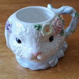 Bunny head cup, pretty springtime decor